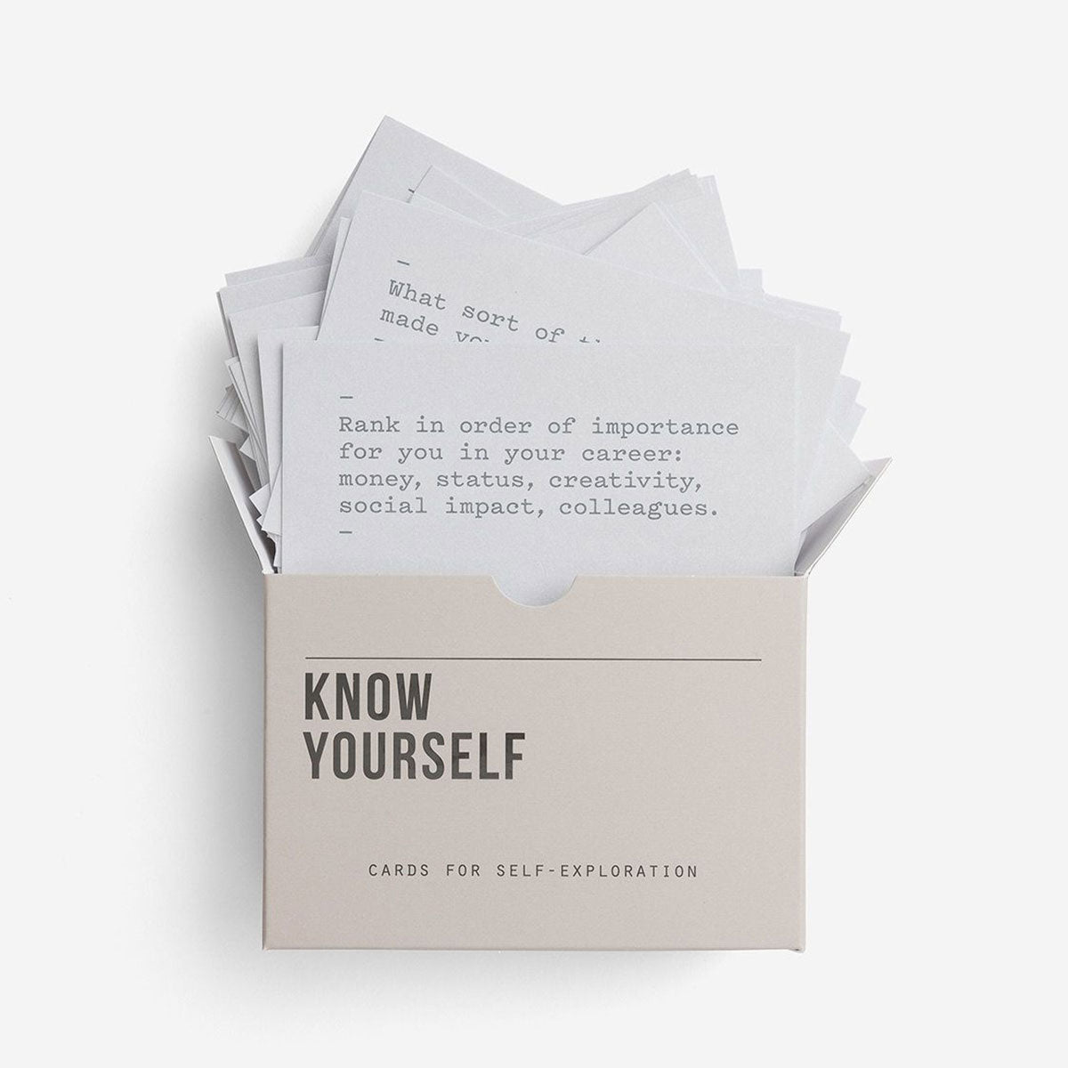 Know Yourself – Prompt Cards