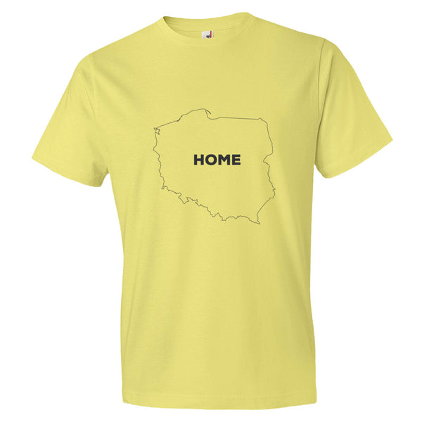 Poland Bordered Home T-Shirt - trendsettashop