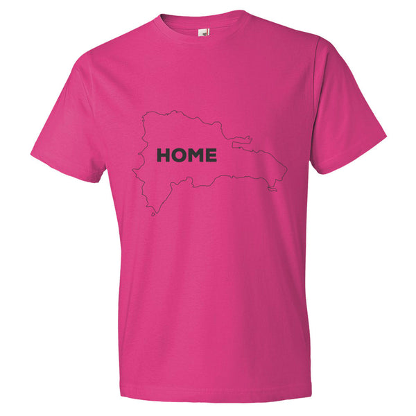 Domnican Republic Bordered Home T-Shirt