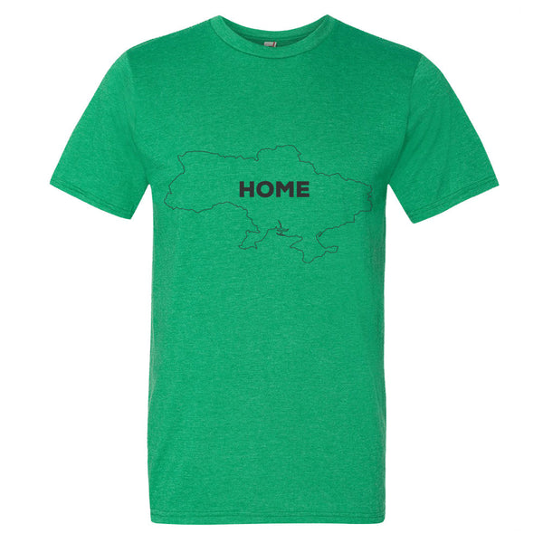 Ukraine Bordered Home T-Shirt - trendsettashop