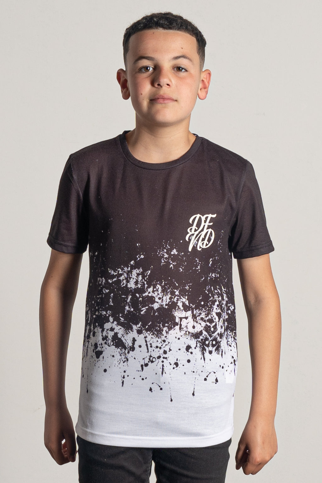 Boy's Energy T-Shirt in Black & White