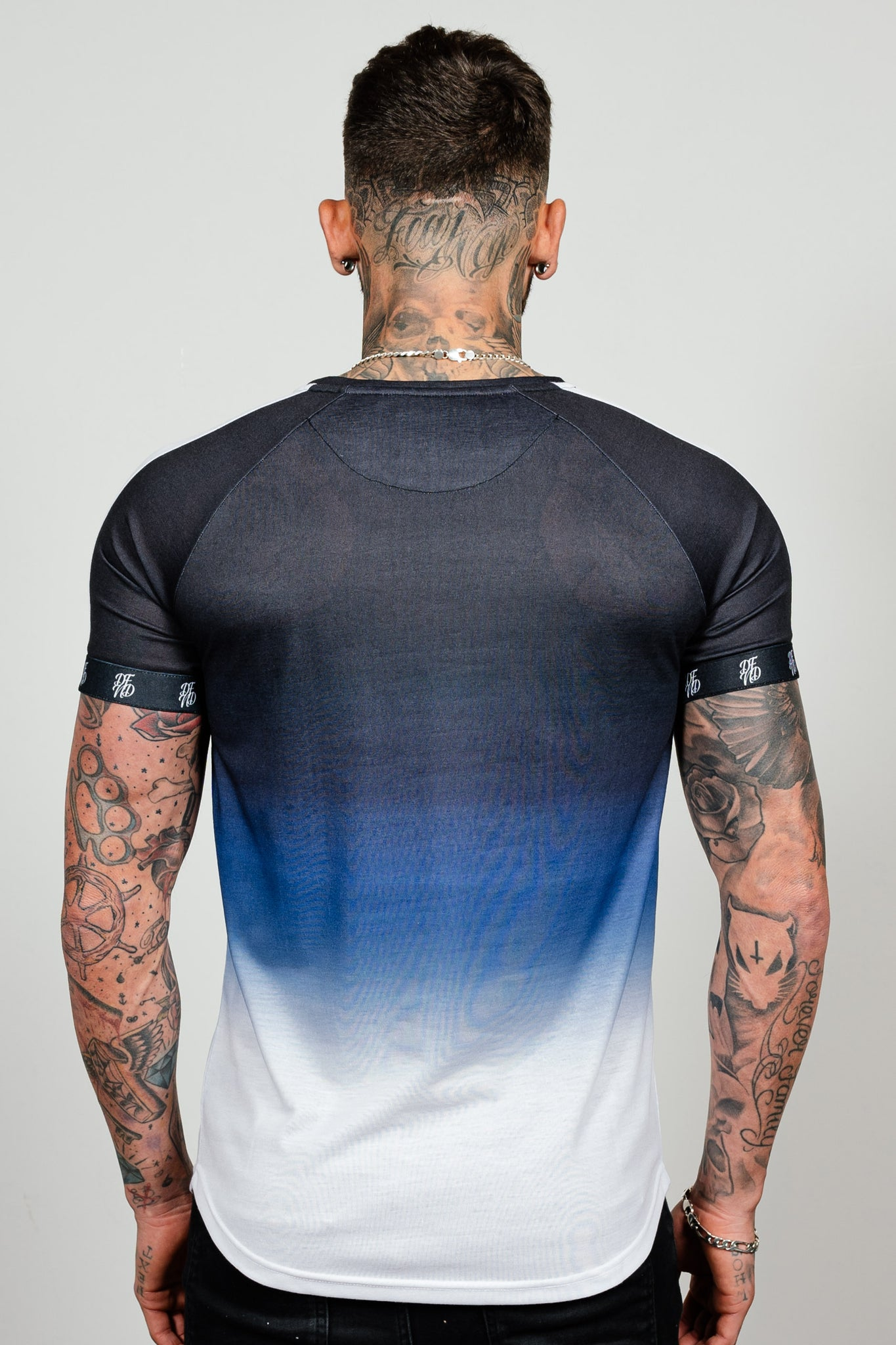 Men's Lazerfade T-Shirt in Blue - DEFEND LONDON