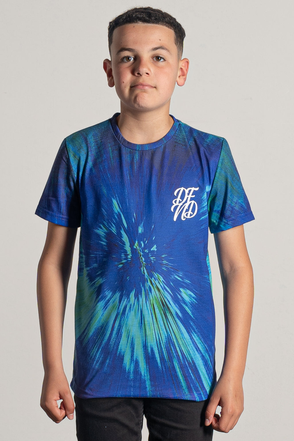 Boy's Tie Dye T-Shirt in Blue