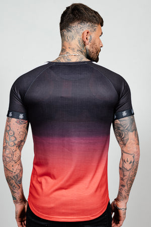 Men's Lazerfade T-Shirt in Red - DEFEND LONDON
