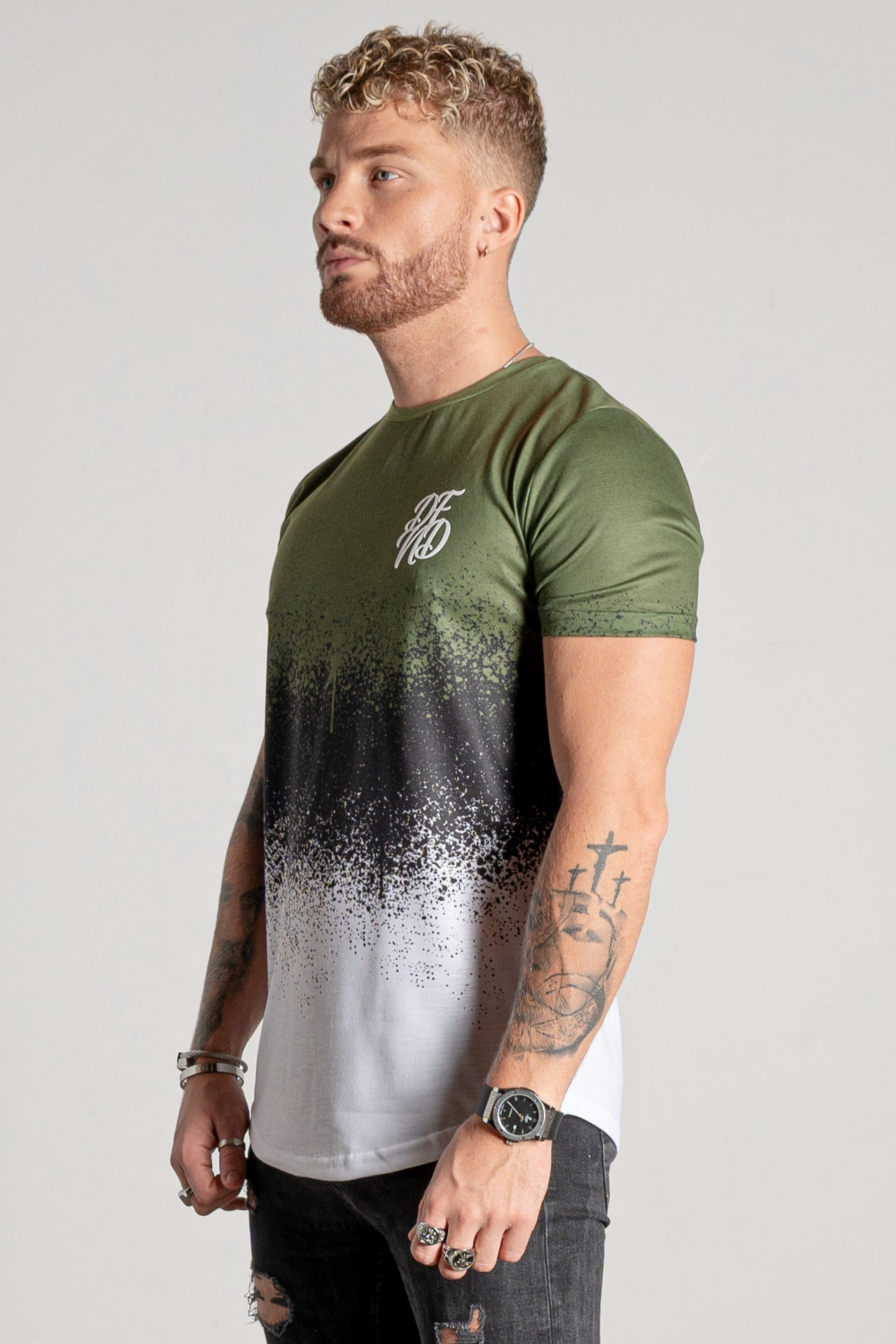Men's Triple Splat T-Shirt in Khaki