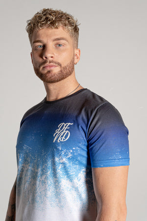 Men's Grit Fade T-Shirt in Blue