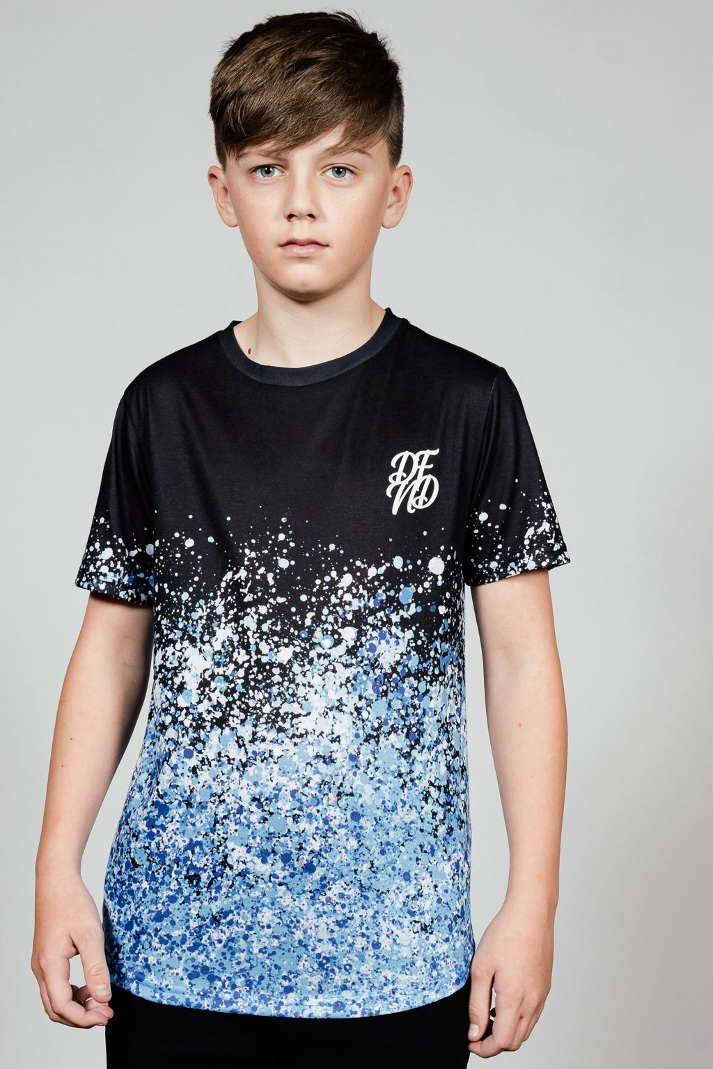 Boy's New Boomz T-Shirt in Blue - DEFEND LONDON