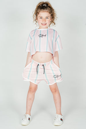 Girl's Fallowfield Shorts in Pink & Blue - DEFEND LONDON