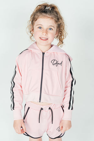 Girl's Castlefield Hoodie in Pink - DEFEND LONDON