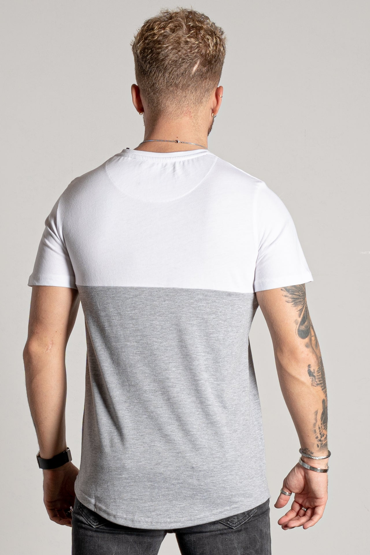 Men's Zonarta T-Shirt in Grey Marl