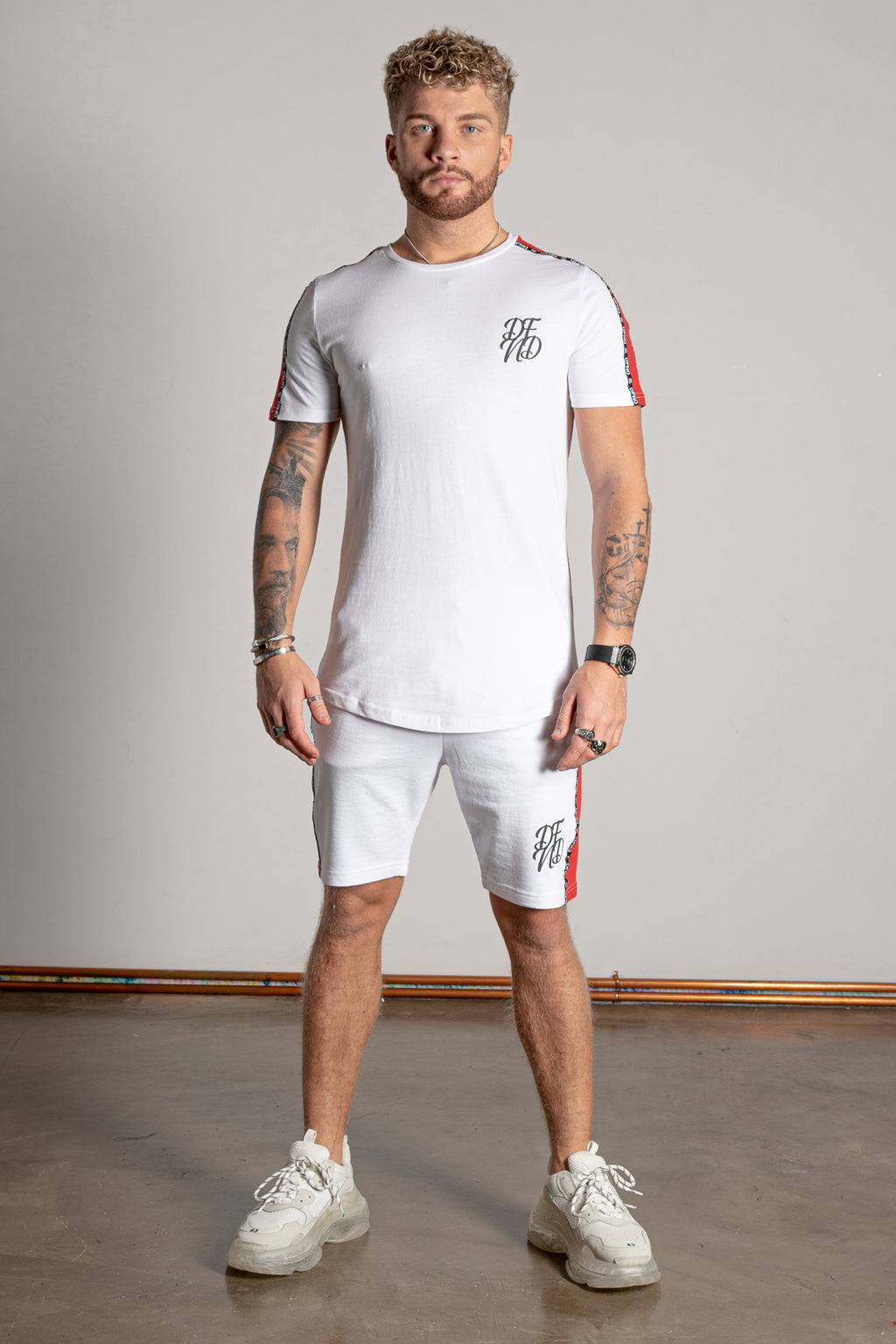 Men's Rover T-Shirt & Shorts Twin Set in White