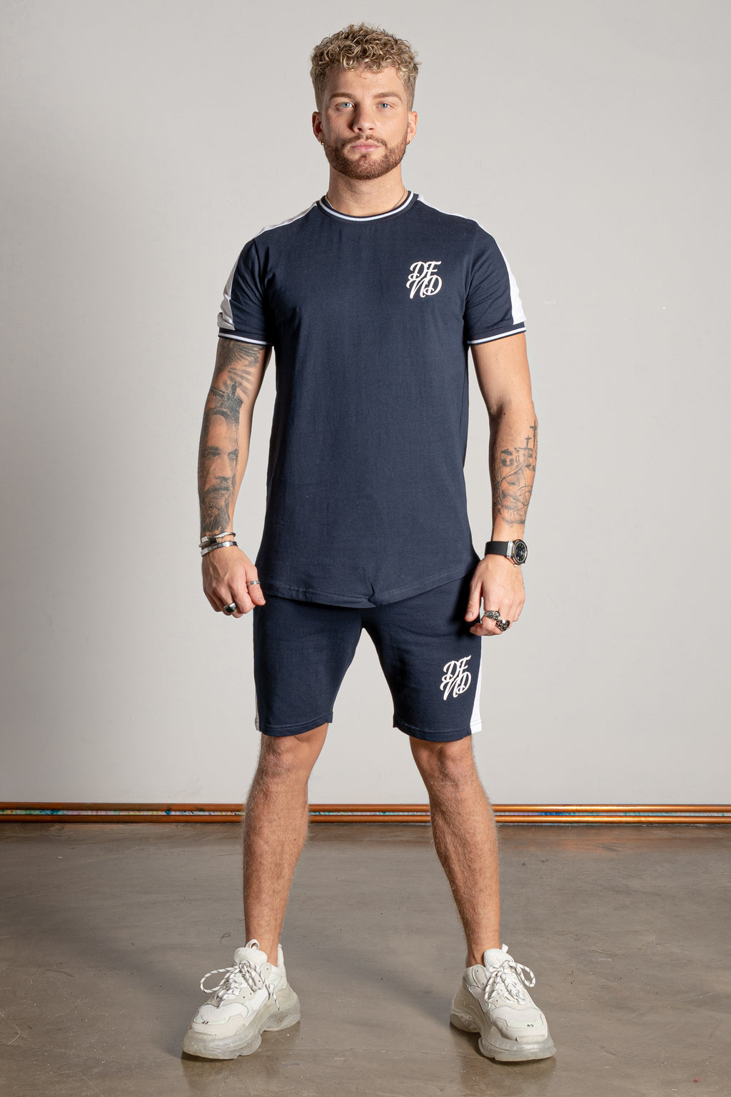 Men's Breach T-Shirt & Shorts Twin Set in Navy