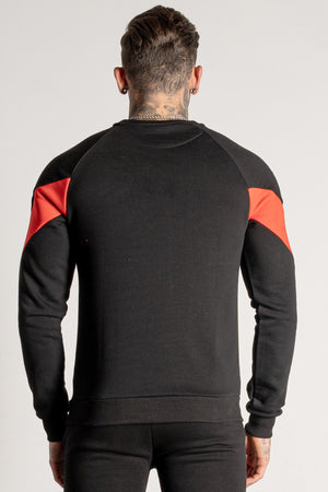 Men's Sharpy Crew Sweat in Black