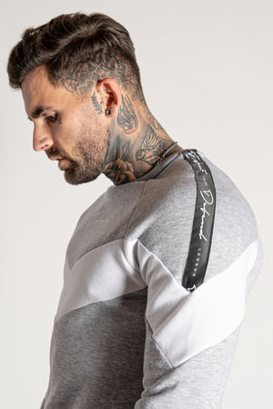 Men's Sharpy Crew Sweat in Grey
