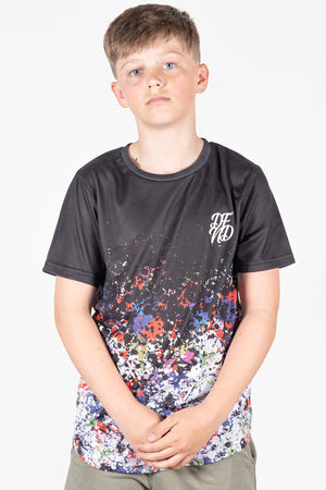 Boy's Hazard T-Shirt in Black - DEFEND LONDON