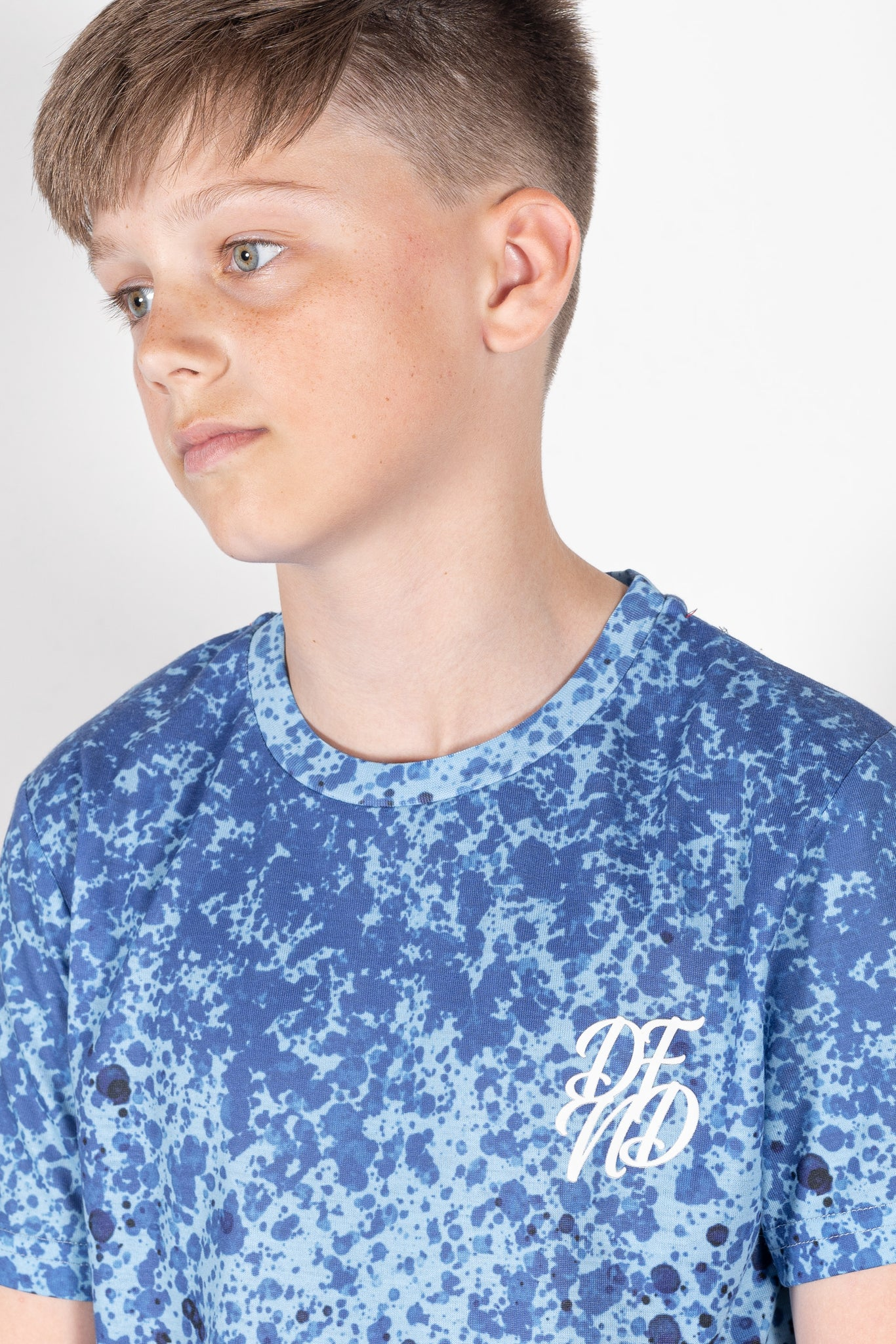 Boy's Mist T-Shirt in Blue - DEFEND LONDON