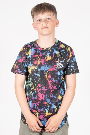 Boy's Parz T-Shirt in Black - DEFEND LONDON