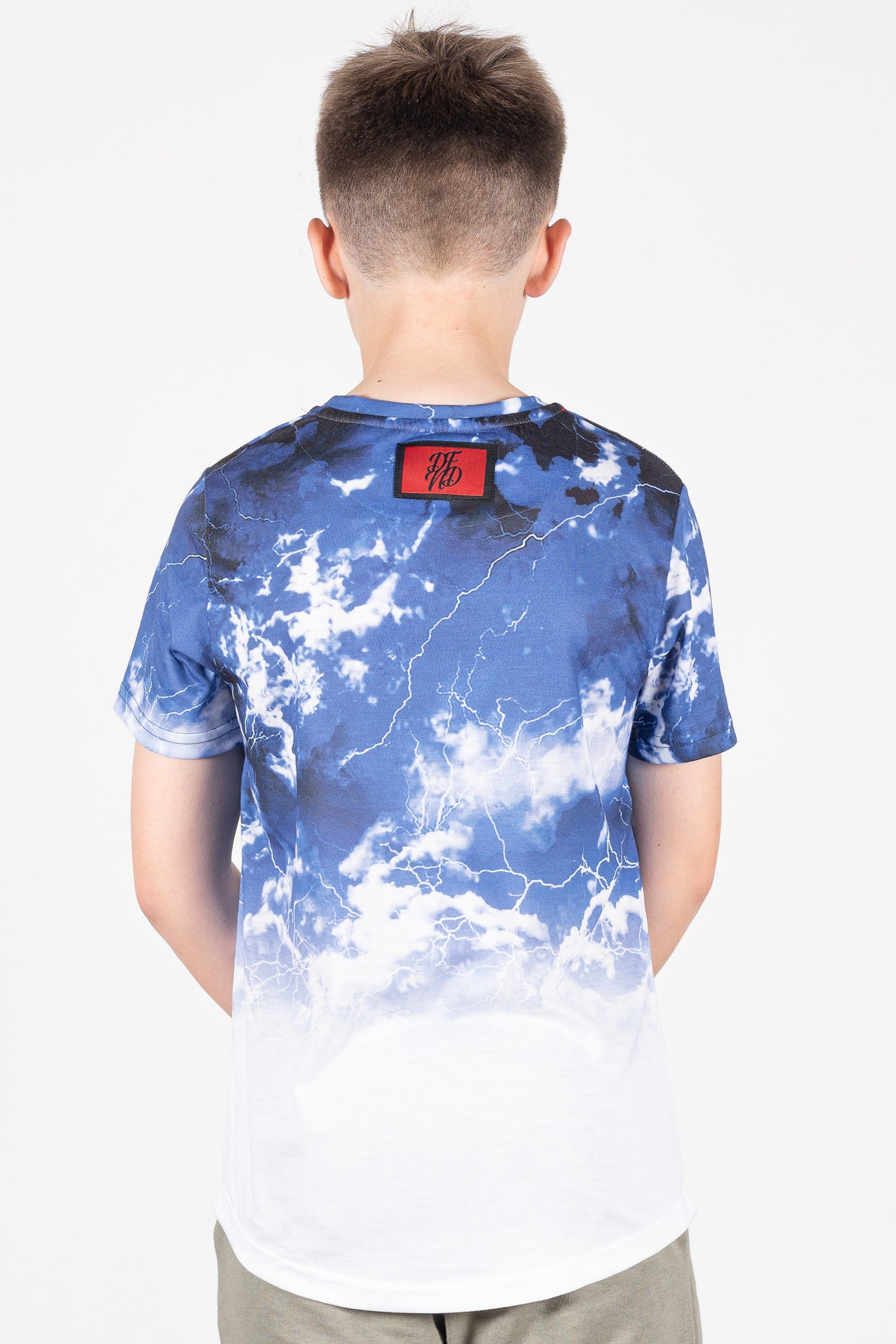 Boy's Heavens T-Shirt in Blue - DEFEND LONDON