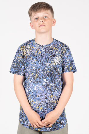 Boy's Play T-Shirt in Blue & Yellow - DEFEND LONDON