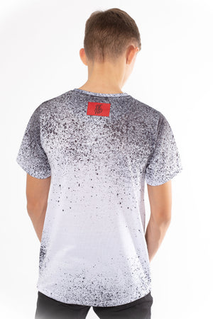 Boy's Splatter T-Shirt in White - DEFEND LONDON