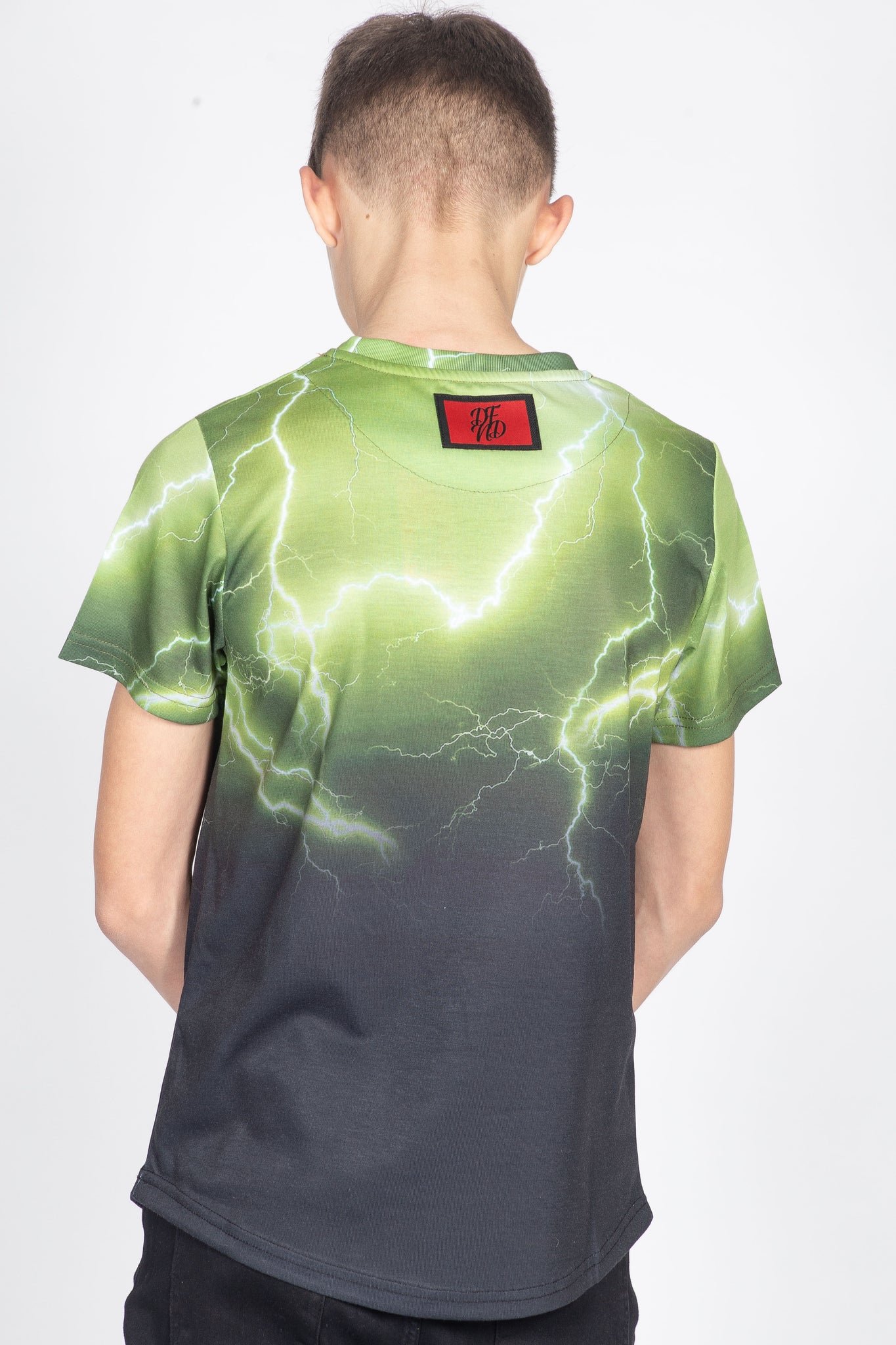 Boy's Insanity T-Shirt in Green - DEFEND LONDON