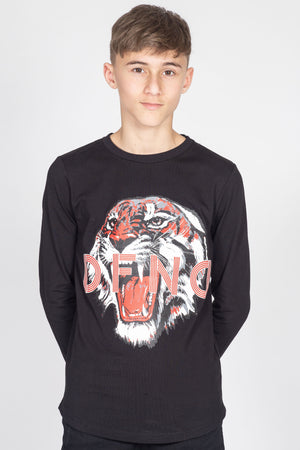 Boy's Benzi T-Shirt in Black - DEFEND LONDON