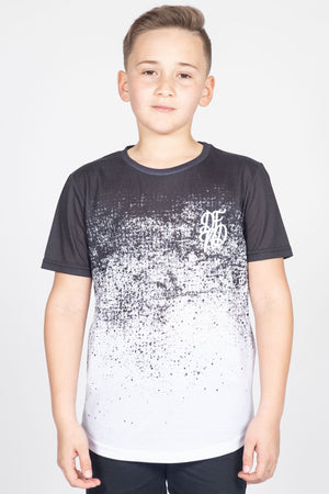 Boy's Dust T-Shirt in Black & White - DEFEND LONDON
