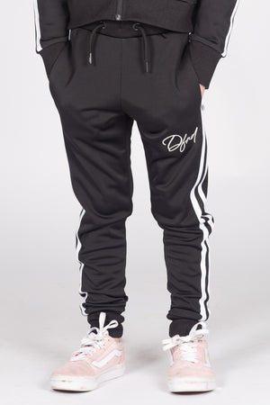 Girl's Castlefield Joggers in Black - DEFEND LONDON