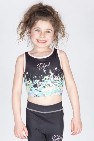 Girl's Art Bralette Top in Black - DEFEND LONDON