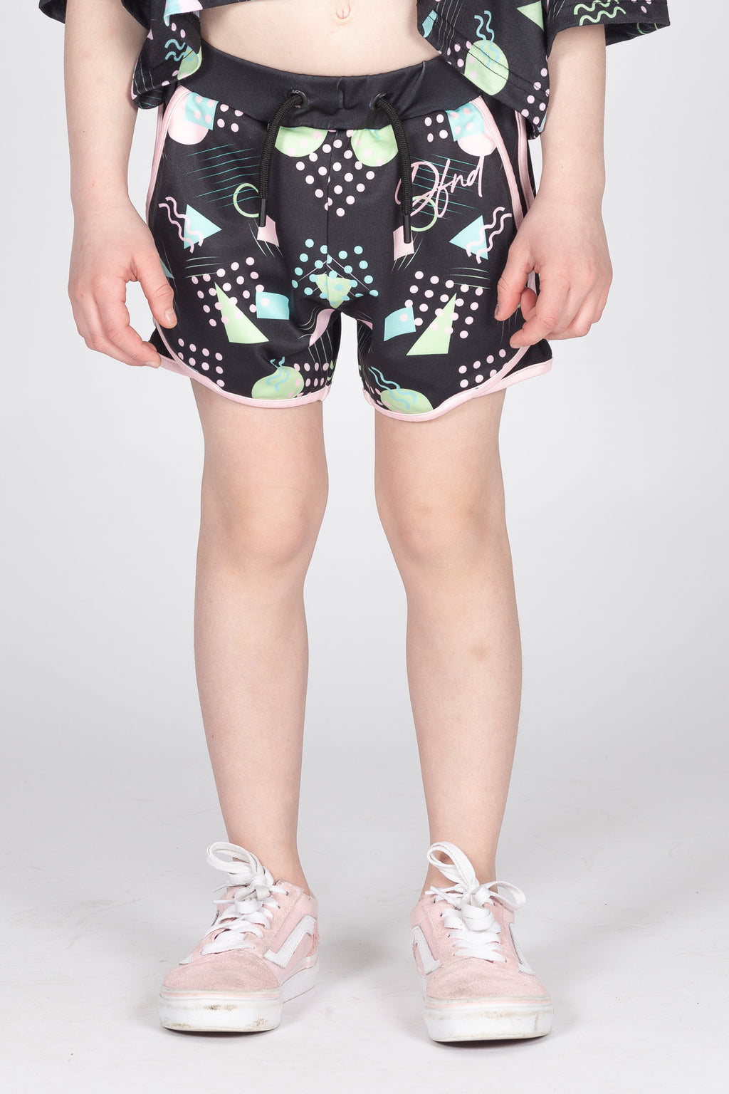 Girl's Bury Shorts in Black - DEFEND LONDON