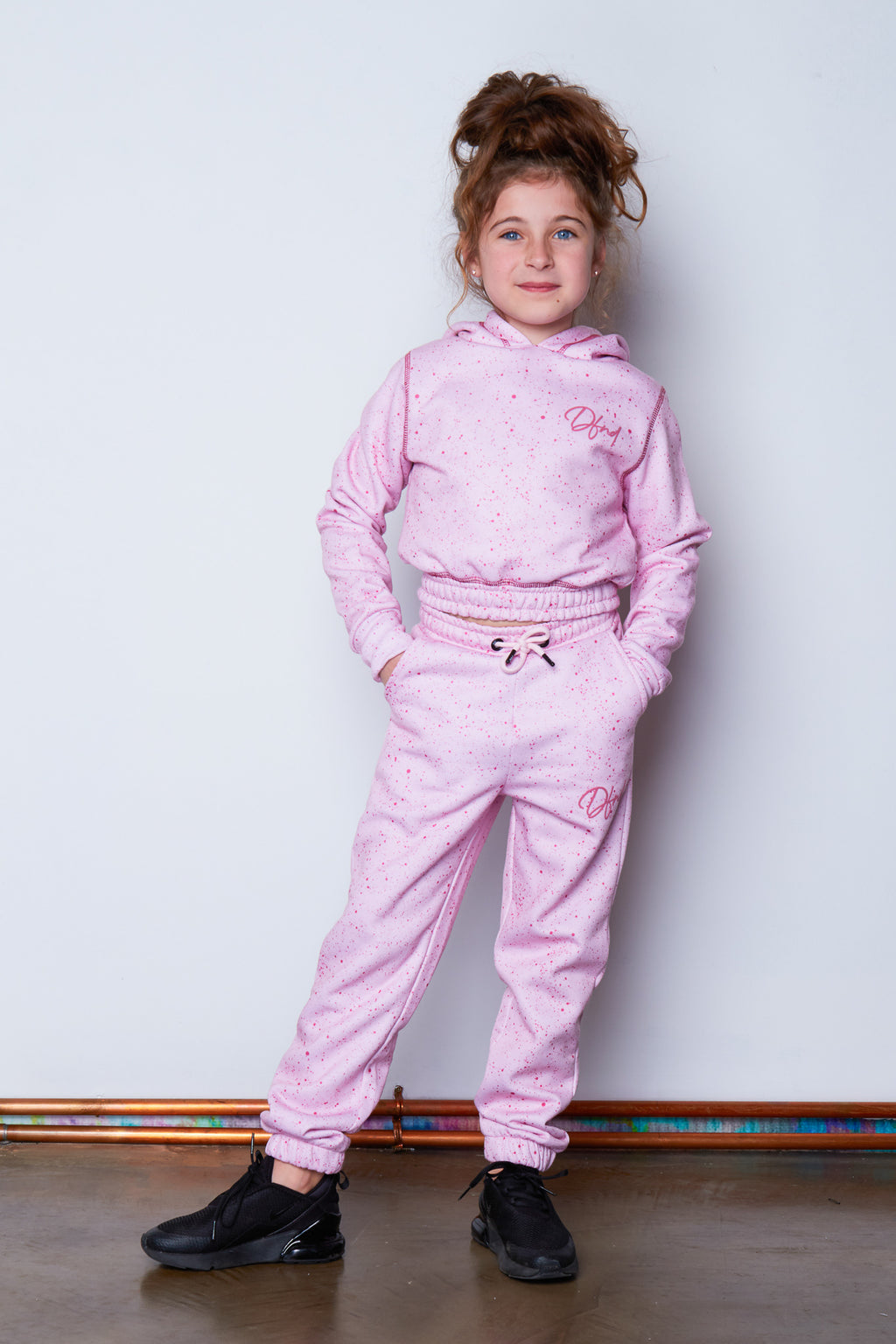Girl's Drop Tracksuit in Pink