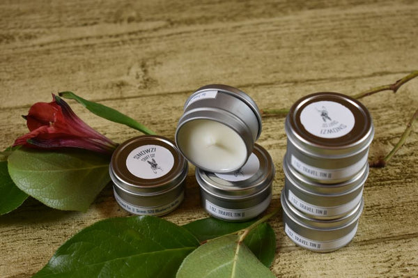 1oz. Travel Tin - Scented Soy Candle - Sampler Kit - Floral & Outdoorsy Collection
