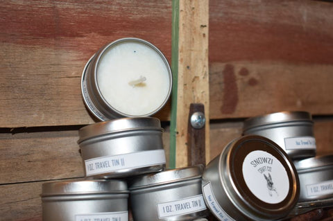 1oz. Travel Tin - Scented Soy Candle - Sampler Kit- Masculine Collection