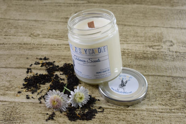 9oz. Scented Soy Candle - Tobacco Collection