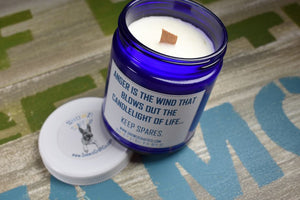 "Scented Soy Candle - 9oz - Politically Incorrect: ""Anger is the Wind..."""