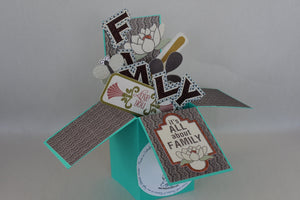 Snowzi 3D Greeting Card in a Box - Blank Inside