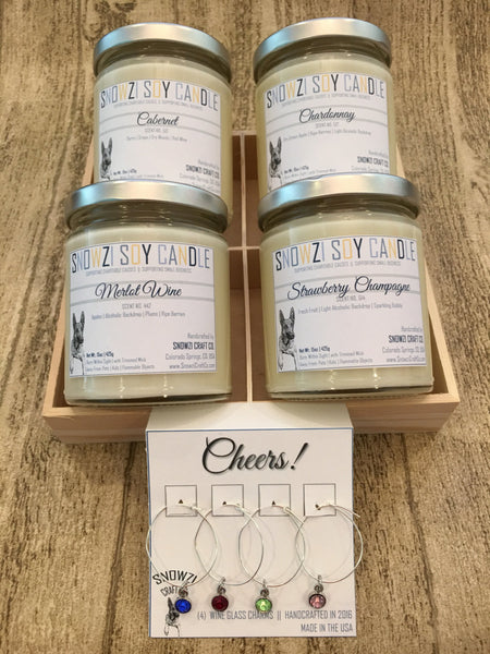Snowzi's Wine Box Kit - Glass Jar Candles