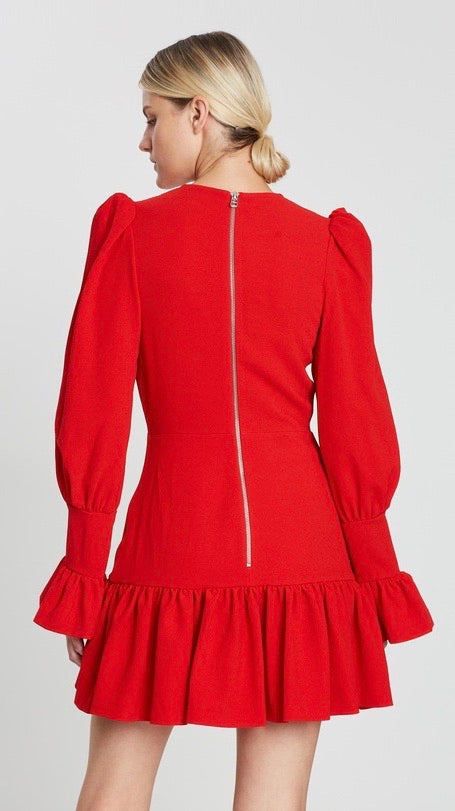 BY JOHNNY Anna V Tulip Sleeve Dress