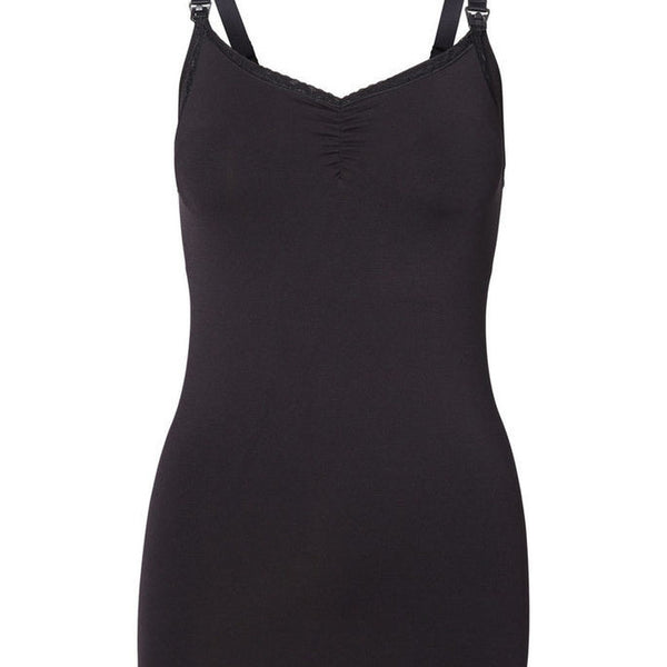 mamalicous milly black camisole vest nursing and maternity built in bra