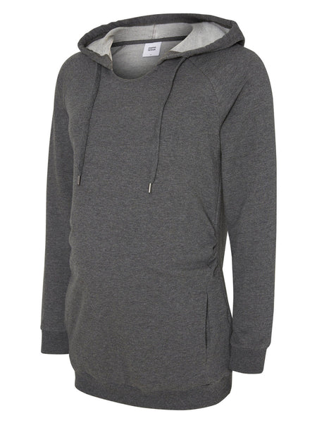 Hooded Grey Sweat Top, Hoodie Mamalicious