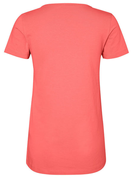 Lea Organic Short Sleeve Pure Nursing Coral T-Shirt, Eco Friendly, AWARENESS