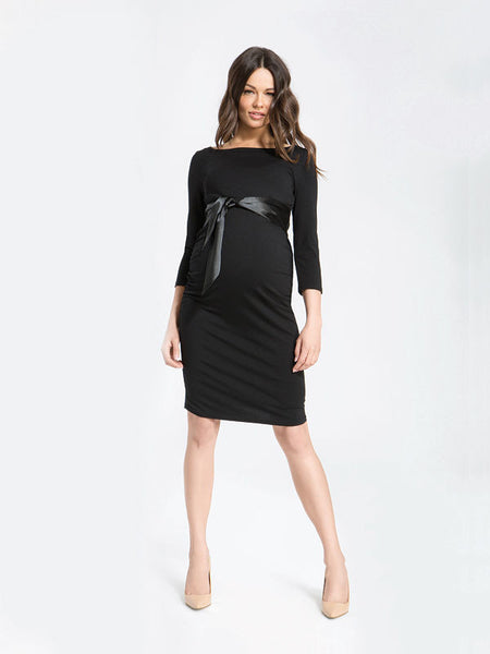 maternity black special occasion christmas dress