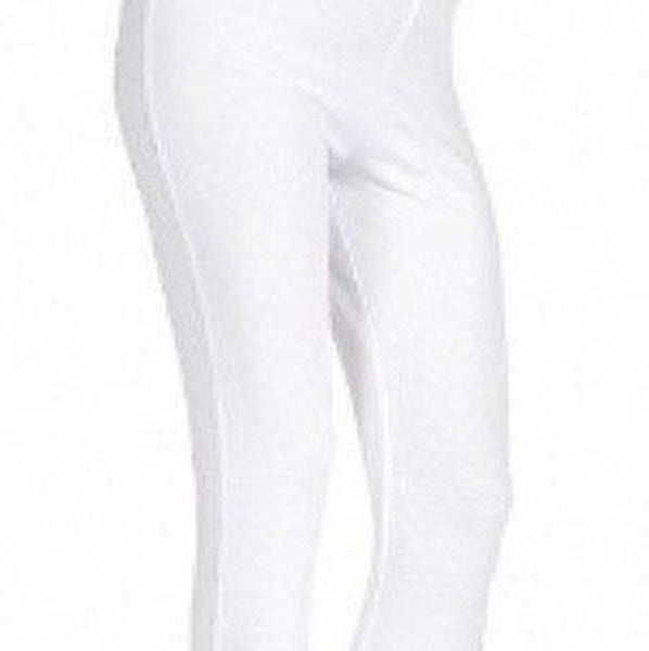 Anne, Maternity White 3/4 Jersey Stretchy Cropped Short Leggings