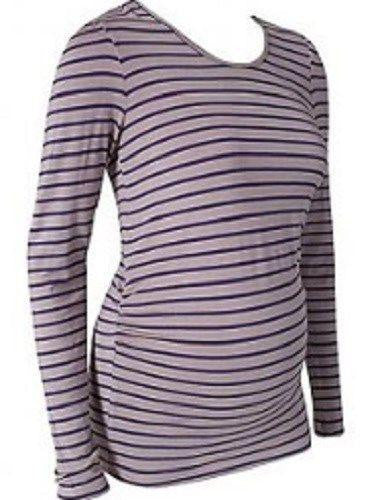 Maternity Isobel Jersey Striped Long Sleeve Top