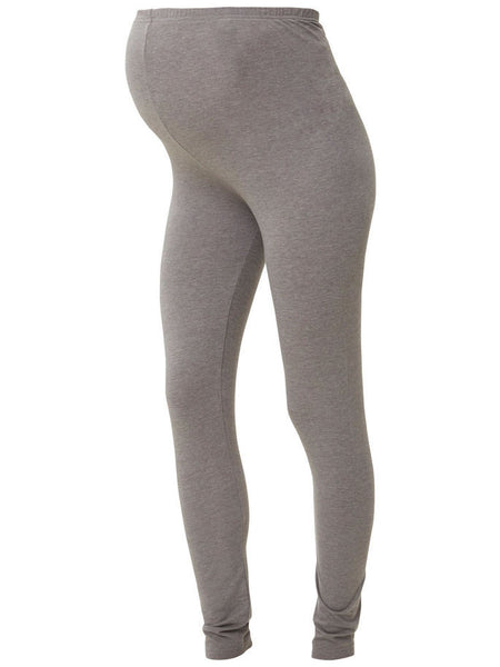 Twin Pack Organic Cotton Maternity Leggings Eco Friendly Grey & Black