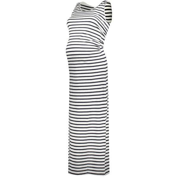 maternity breton stripe dress mamalicious