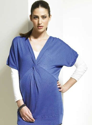 Maternity Knot Blue Jumper