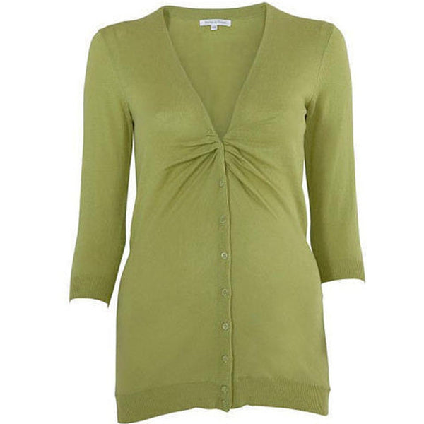 Beautiful Maternity Knitted Green Cardigan