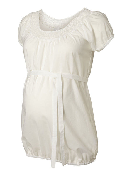 Maternity Smock Ivory Tea Shirt Blouse