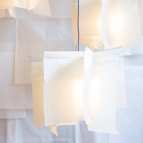 "Suspension linen paper light ""Moulins"" (request pricing)"